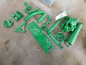 John Deere M tractor spring & misc. hitch parts Part #R912-A  Tag #756