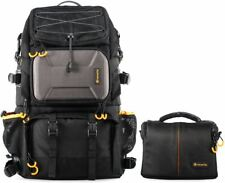 "TARION Pro 2 Bags in 1 Camera Backpack Large with 15.6"" Laptop Compartment Water"