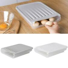 Clear Kitchen Fridge Stacked Auto Scrolling Egg Holder Fresh Storage Box Rack