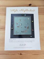 New ListingPosie by Alicia Paulson 'Night, Neighborhood Cross Stitch Sampler Kit