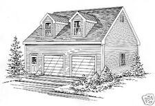 30x32 2 Car TD / LD Garage Building Plans / 700 sf Walk up Loft / Bonus Room