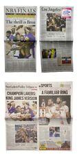 October 12 2020 LA Times Newspaper Los Angeles Lakers NBA Finals Champions Lot