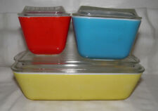 Vintage Pyrex 6pc Primary Colors Refrigerator/Oven set Priced to Sell Buy It Now