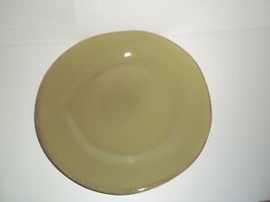 "Pier 1 TOSCANA PALM Salad plate 8 3/4"", Green, Earthenware"