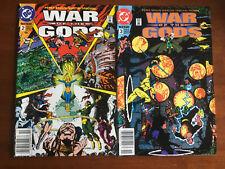 WAR OF THE GODS # 2 # 3 VF+ NEWSSTAND EDITION DC COMICS WONDER WOMAN