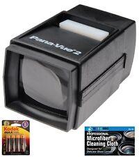 Pana-Vue 6562 #2 35mm Illuminated Lightweight Slide Viewer + AA Batteries +Cloth