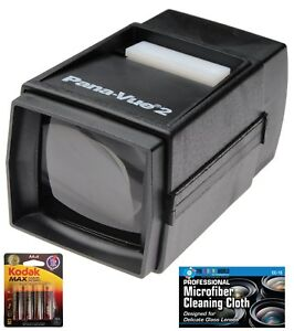 Pana-Vue 6562 #2 35mm Illuminated Lightweight Slide Viewer + AA Batteries +Cloth