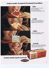PUBLICITE ADVERTISING 104 1974 JACOB'S Crackers le pain sans mie