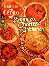 "MEXICAN COOKING RECIPES IN SPANISH ""CERDO, ESPINAZO, CHORIZO Y CHICHARRON"""