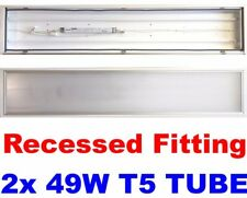 5x Philips Recessed T5 Fitting With Lamps 5ft 5 Foot Ceiling Light Panel IP54
