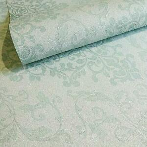 Holden Decor Teal Blue Green Floral Damask Glitter Vinyl Wallpaper 33532