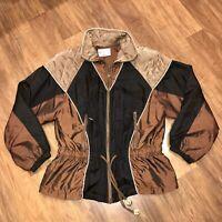 Vtg 90s Westport WINDBREAKER Track Suit Jacket Womens MEDIUM Iridescent Hip Hop
