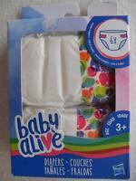 Orig. Hasbro >>> 6er Pack Baby Alive Windeln / Diapers / Panales <<<