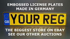 GB Great Britain Euro European License Plate Number Plate Embossed GB font