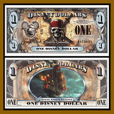 "Disney 1 Dollar, 2011 ""E"" Series 5 Digit Serial Pirates of the Caribbean Unc"