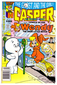CASPER THE FRIENDLY GHOST AND #3 WENDY a FN/VF- 1988 Harvey copper age comic