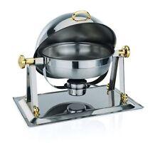 Chafing dish per kerosene, rolltop COPERCHIO e dorati FERRAMENTA 4 LITRI