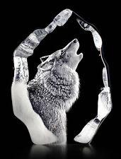 Mats Jonasson Howling Wolf Crystal Sculpture/Statue/Figurine 33846- Brand New!