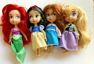 "Disney Princess Animator Dolls Lot 5"" Ariel Belle Snow White Sleeping Beauty"