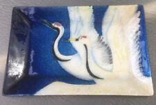 Japanese Cranes - Japan Souvenir Enamelled Sushi Condiments Tray