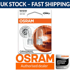 OSRAM W5W 501 Sidelight Bulbs (Twin) 2825-02B