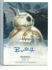 "2016 Star Wars Force Awakens Series 2 Brian Herring as ""BB-8"" AUTOGRAPH #11/25"