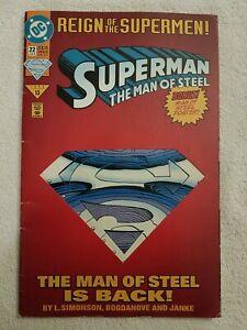 Superman: The Man of Steel #22 [Die-Cut Cover Edition] (Jun 1993, DC)