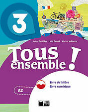 (14).TOUS ENSEMBLE 3ºESO LIVRE +DVD ROM (CHAT NOIR). ENVÍO URGENTE (ESPAÑA)