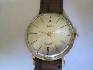 1970s Original USSR Gentleman's Mechanical Watch - Poljot 23 Jewel - Works