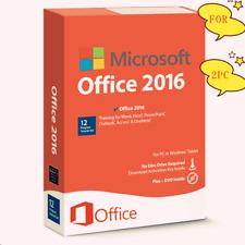 Microsoft Office Professional 2016 DVD Genuine - 2 PC Install