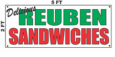 Reuben Sandwichs Banner Sign NEW 2x5 Delicious