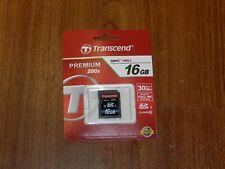Genuine OEM Transcend Premium 16GB SDHC I Memory Card - Class 10 - 30 MB/s 200x
