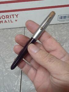 Vintage Parker 51 Burgundy?  stainless Cap? Fountain Pen