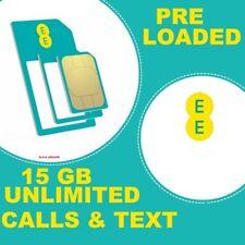 EE 4 G Pay As You Go par carte SIM-Triple Coupe Standard, Micro & Nano - £ 20 Pack