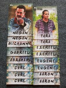 2017 TOPPS WALKING DEAD SEASON 7 CHARATER 16 CARD LOT