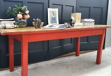 Vintage School  Desk Bench Kitchen Table Workbench Industrial Courier Available