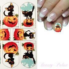 Nagelsticker Nailart Tattoo Fullcover Halloween Full Wrap Wasser Transfer RU90