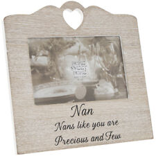 Nan Heart Picture Photo Frame Wooden Sentiment Love Freestanding LEONARDO