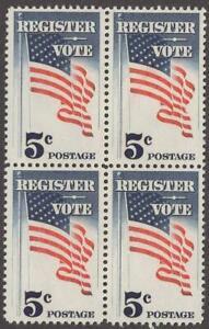 Scott # 1249 - US Block Of 4 - Register & Vote - MNH -1964