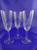 Set of 3 Champagne Flutes Wine Glasses Barware Stemware