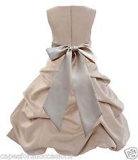 NEW MULTIPLE MATCHING COLORS FLOWER GIRL DRESS WEDDING SIZES 2 4 6 8 10 12 14 16