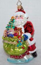 Christopher Radko Santa w Bag of Presents Christmas Ornament - Large