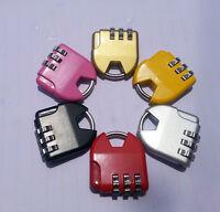 3-dial Combination Lock Luggage Travel Padlock HU