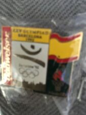 1996 Budweiser Spain Flag Atlanta Olympic Pin Bud 1992 Barcelona