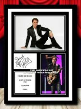 More details for (373) cliff richard signed a4 photo//framed (reprint) great gift @@@@@@++@@@
