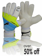 Puma goalkeeper gloves evoPOWER (Blue-yellow size 8 US) 4 finger support was $75
