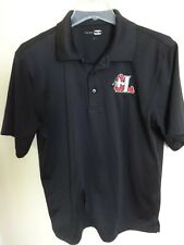 EUC MiLB Minor League Baseball Hickory Crawdads Black Polo Shirt Men Medium