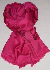 Seiden Schal Damen in kräftigen Pink - Seidensatin, toller Fall + zarter Glanz