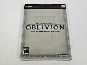 PC DVD Elder Scrolls IV: Oblivion 5th Anniversary + STEELBOOK NEW SEALED DAMAGED