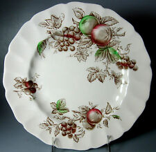 """Johnson Brothers Harvest Time Brown  Dinner Plate 10"""""""